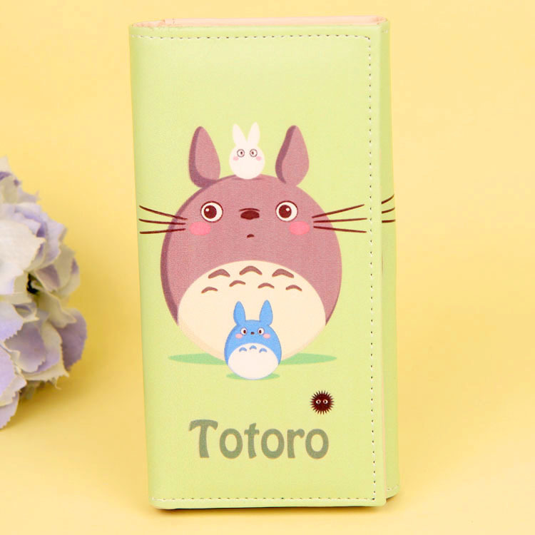 Cartoon My Neighbor Totoro Women Wallets PU Leather Students Wallet Cards Holder Women's Clutch Hasp Coin Purse Money Bags 6