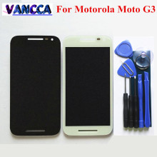 "High Quality Touch Screen+LCD Display Digitizer Assembly For Motorola Moto G3 5.0"" Cellphone Black / White Color Free Shipping(China)"