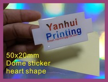 50x20mm shape epoxy dome sticker printing custom