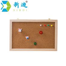 XINDI Cork Board  25*35cm Office Supplier New Natural Pine Wood Frame Memo Bulletin Boards Factory Direct Sell Home Decorative