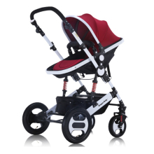 Russia free shipping baby stroller high landscape can sit lie and winter baby two-way shock trolley portable folding children(China)