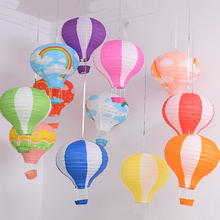 N2HAO 1PCS 12inch(30cm) Rainbow Hot Air Balloon Paper Lantern Fire Sky Lantern for Wedding/Birthday Party/Christmas Decoration