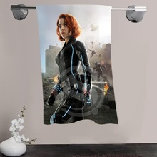 H-P&21 Custom Big Size 140cmx70cm Cotton Bath Towel Black Widow #8 Shower Towel For your family SQ00908-@H021