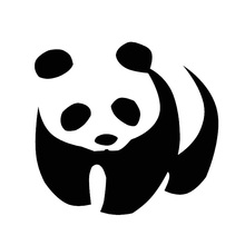 Tancredy The 2nd Half Price 15*16cm Lovely Panda Car Stickers Motorcycles Car Accessories vinyl full body car stylings(China)