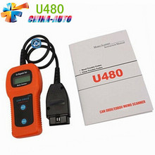 10 Pcs 2016 Best Quality U480 OBD2 CAN BUS&Engine Code Reader ,U480 OBD2 Car or Truck AUTO Diagnostic Engine Scanner By DHL