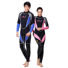 Neoprene 3MM Scuba dive Wet suit Lovers Wetsuit Equipment Snorkeling Jumpsuit One piece long sleeved Triathlon Spearfishing Surf(China)