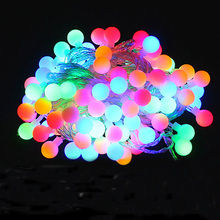 Novelty Outdoor lighting LED Ball string lamps 10m 100leds Christmas Lights fairy wedding garden pendant garland decoration(China)