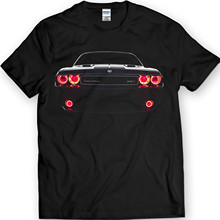 Movie Shirt Dodge Challenger Srt Led Headlights Muscle Racer Car T-shirt 100% Cotton Holiday Gift Birthday (xl, Black)