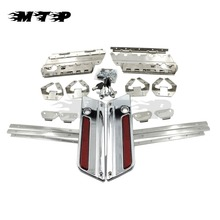 Chrome Saddlebag Lid Hardware Latch Hinges Cover Hard bags Lock For 1994-2013 Harley Touring Road King Electra Glide FLHT HLTR