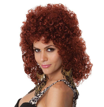 Free Shipping Most Popular Big Perm Cosplay Hair New Style Sexy Curly Hair Women Party Curly headdres 3FH039(China)