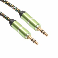 3.5mm Jack Colorful Transparent Spring Coiled Aux Stereo Audio Car Cables Flexible Extension Retractable Music Headphone Line 2M