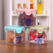 600 ML/800 ML/1000 ML Portable Plastic Kitchen Food Cereal Container Grain Storage Case Bean Bin Rice Storage Box #260565(China)