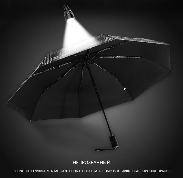Wind Resistant Folding Automatic Male Umbrella Rain Women Auto