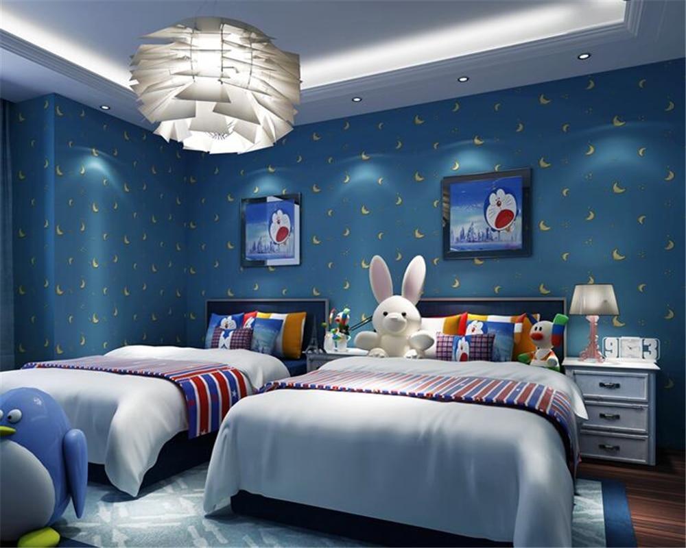 beibehang Lovely Child Star Moon Unspecified 3d Wallpaper Boys Girl Princess Room Bedroom Wallpaper papel de paredepapier peint<br>
