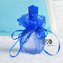 Hot Sale 1pcs 75ml Crystal Refillable Perfume Bottle With Blue covered(China)