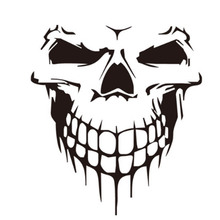 1pcs 59*53cm 3D Skull Car Head Stickers Rear Windshield Window Car Styling Stickers And Decals