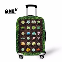 ONE2 2017 New Design luggage cover printing with Lovely Succulent Potted for teenager men and women apply to 18-30 inch suitcase