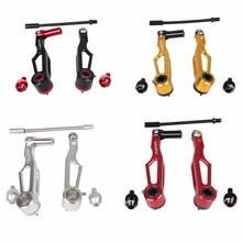 "4 Colors Alloy 80mm Length Short Arm 14"" 16"" Folding Bike Bicycle Brake Caliper Cycling Foldabe Bike V Brake Bicycle Parts(China)"