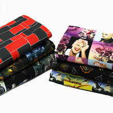 50*145CM fabric patchwork 4 ways stretch knit music movie idols for Tissue Kids Bedding home textile for Sewing Tilda Doll,c596