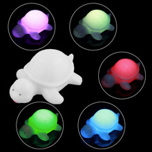 10PCs Romantic Baby Room Cartoon Turtle Color Night Light Flashing Lamp LED Night Lamp Decoration Artificial Novelty Night Light(China)