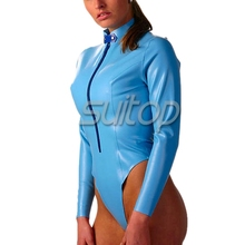 Buy fashion latex catsuit free chest sexy Exotic Apparel Teddies & Bodysuits skye blue