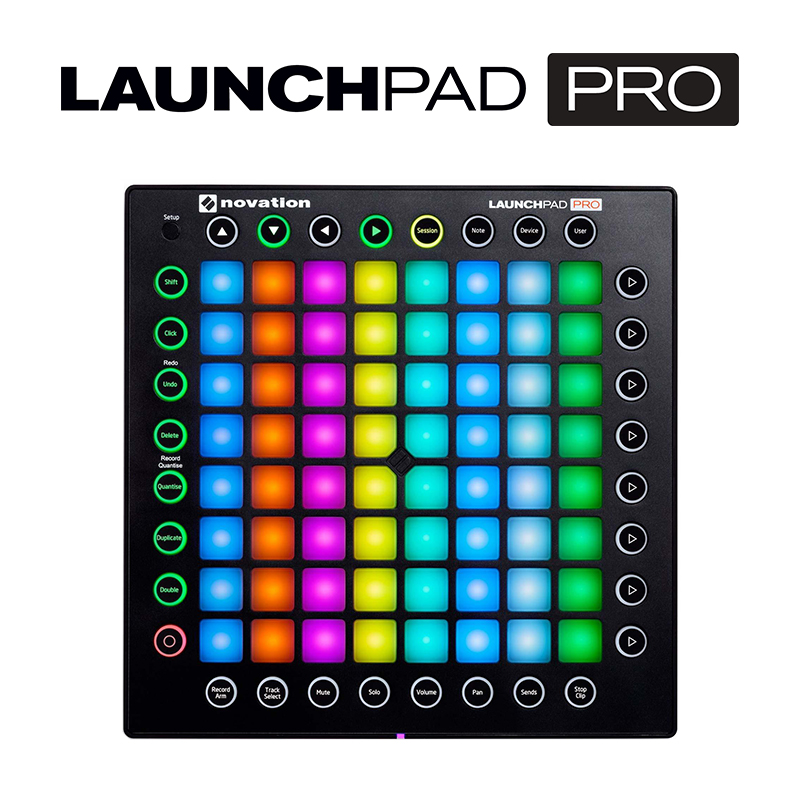 Percussion-Pads Keyboard-Controller Feedback Live-Performance-Mixer DJ Novation Launchpad title=