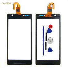 TouchScreen Digitizer Panel For Sony Xperia ZR LTE M36h M36 C5503 C5302 HSPA+ Phone Touch Screen Front Glass Replacement + Tools