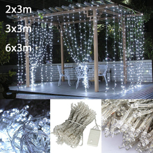 2x3/3x3/6x3m waterfall christmas Led string fairy lights garland home holiday decoration wedding led curtain light, 220V/110V