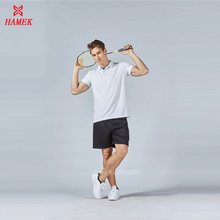 top quality men women badminton shirt clothes table tennis polo t shirt sporting training tracksuits breathable table tennis set(China)