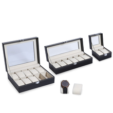2 6 10 Grids PU Leather Watch Box Jewelry Storage Case Watch Display Box caja reloj