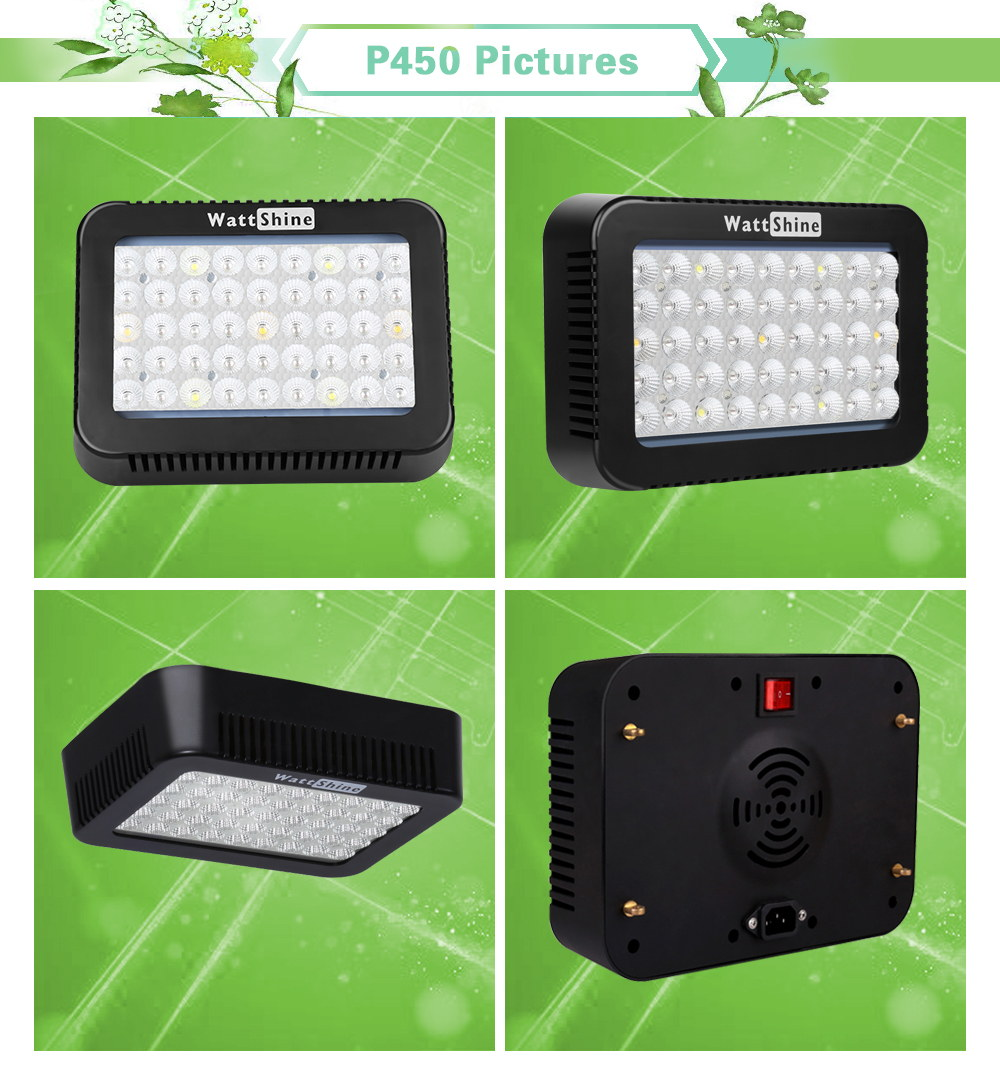 High PAR Value 450W led grow light Full spectrum for plant growing Indoor plants lamps Hydroponics lighting Double chip 10W  (12)