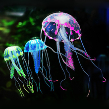 Glowing Effect Fish Tank Decor Aquarium Artificial Silicone Vivid Jellyfish(China)