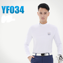 Men's  Golf Long-sleeve T-shirt Straitest Elastic Thermal Underwear Basic Shirt Wholesale