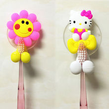 Cute Cartoon sucker toothbrush holder Suction Hooks Tooth Brush Holder Bathroom Sets