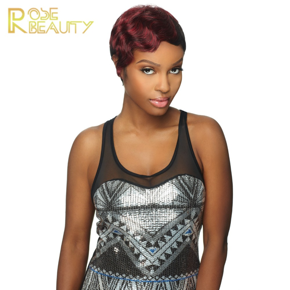 Hot Sales Pelucas Women Short Synthetic Hair Cut Brown Black Blonde Curly Short Hair Wigs Style for Black Women Kinky Afro Wigs<br><br>Aliexpress