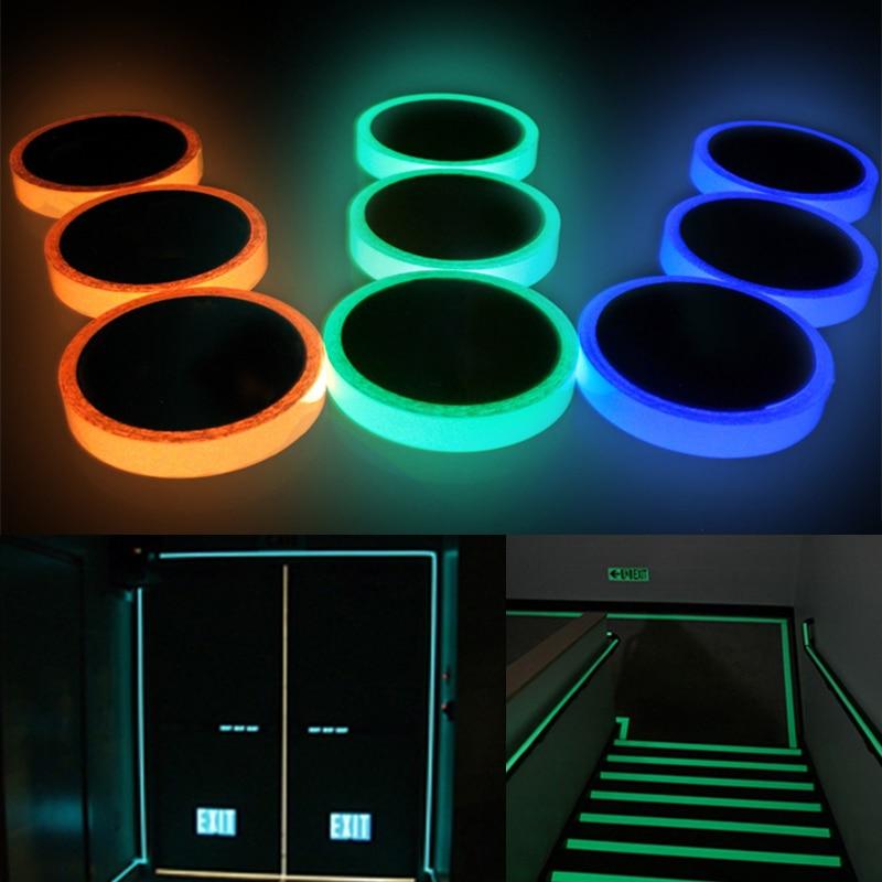 Luminous Tape Fluorescent Warning Tape Wall Sticker High Quality 1PC Self Adhesive Glow In Dark