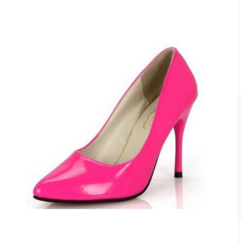 New Sexy Candy colors fashion spring shallow mouth pointed toe single ol thin heels princess high-heeled Pumps shoes<br><br>Aliexpress