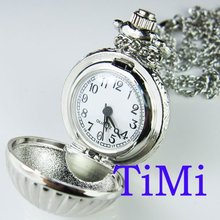 !!! Rare&Nice Chocolate Shape Silver Case Pocket Watch