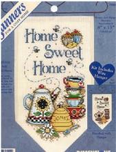 Sweet Home Небольшой баннер DIY Счетный крест комплекты 14ct Чай чашки мед мультфильм кухня украшение комнаты Наборы для вышивания(China)