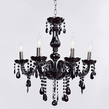 Modern Lamp Fixture Pendant 6 Lights Ceiling Chain Candle Chandelier N4025(China)