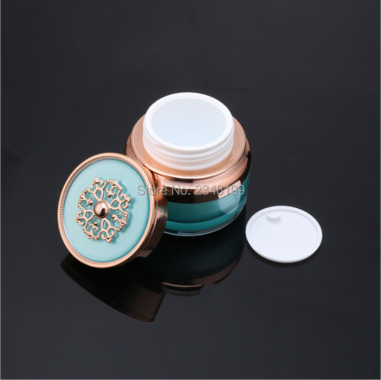 Cream Jar 50g Lotion Pump Blue Emulsion Pump 100ml Cosmetic Container Empty Cream Jar Plastic Cream Bottle Lotion Bottle (2)