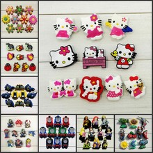 10PCS Hello Kitty/Plants VS Zombies/ Batman/Princess PVC Shoe Charms,Shoes Accessories Fit Bands Bracelets Croc JIBZ as Gift(China)