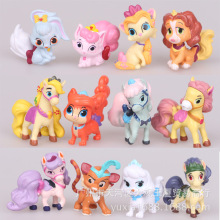 12pcs/lot 5CM LPS Palace Pets PVC Action Figures Disny Princess Little Pet Shop Cats Dogs Figurines Kids Toys for Boys Girls