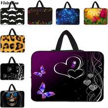 Viviration Tablet Netbook Cover Women Fashion Sleeve Notebook Bag 17 14 15 12 10 Inch Sleeve Bolsas Zipper Laptop 13 Case For HP(China)