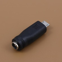 DC 5.5*2.1mm Female to Mini USB male DC Power Charger Adapter Converter Connector for flat navigation