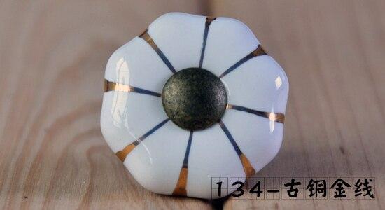 10pcs lot free shipping European style porcelain ceramic drawer cabinet wardrobe door knob 134ABM/W<br><br>Aliexpress
