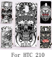 TAOYUNXI Cell Phone Cases For HTC Desire 210 Dual Sim 700 606 One M9 Cover 709D 600 7088 Case Bags Skin Plastic Cool Skull Shell