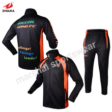 full sulimation print OEM any color name logo number sports jacket customized jackets for teams track suit