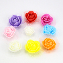 30pcs/lot Diameter 3.5cm Foam Rose Flower Head Artificial Rose Flowers Handmade DIY Wedding Home Decoration 027017057(China)