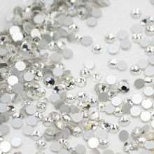 1440pcs SS3-SS10 Clear Nail Rhinestones for Nails Art Glitter Crystals Decorations DIY Non HotFix Decor Glass Stones TRNRS01(China)